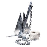 10lb / 4.5kg - Sand Anchor Kit - 2M Chain, 50M x 6mm Silver Rope & 2 Shackles BLA 146020 image