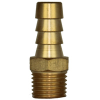 "3/8"" Brass Fuel Barb - 1/4"" NPT Threads Suits Outboard Stern Drives Fuel Tanks image"