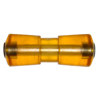 "Keel Boat Trailer Roller 8"" (200mm) Polyurethane Yellow Cotton reel image"