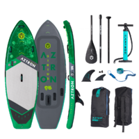 "Aztron SIRIUS 9'6"" SURF SERIES Inflatable SUP Stand Up Paddleboard Package image"