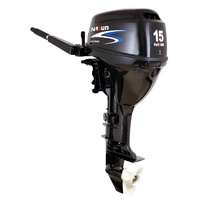 15HP PARSUN OUTBOARD MOTOR Electric Start, Short Shaft, 4-Stroke, Tiller Steer, WATER COOLED 2YR WARRANTY F15BWS image