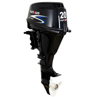20HP PARSUN OUTBOARD Forward Control / Short Shaft / EFI (Electronic Fuel Injection) 4-Stroke MOTOR + Electric Start Water Cooled Quite 2YR WARRANTY image
