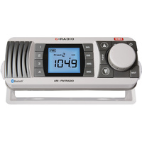 GME GR300 AM FM Marine Radio Reciever with Bluetooth Stereo Streaming White GR300W image
