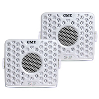 GME - GS300 Marine box Speakers x 2, 60W - White Pair Boat Stereo S3 image