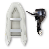 "3.3m ISLAND INFLATABLE BOAT + 15HP PARSUN OUTBOARD MOTOR "" UNBEATABLE PACKAGE DEAL "" 11ft Island Air-Deck Boat & 15hp 4-Stroke Outboard complete image"