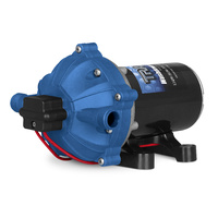 TRAC Super Washdown Pump kit Plus Filter & Fittings 70psi Suction 6ft Capacity 5.3GMR Boat Caravan Car image