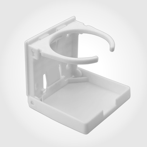 1 pc Drink Holder White Adjustable Folding Compact. Boat Campervan Car Caravan