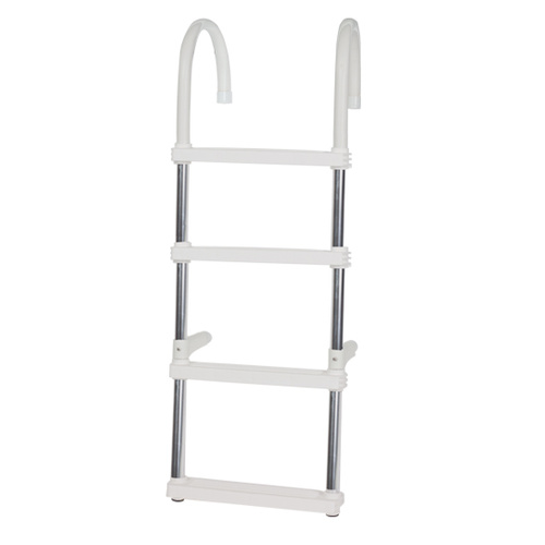 Boat boarding Ladder - 4 Step - Heavy Duty Quality Aluminium Folding Step Ladder
