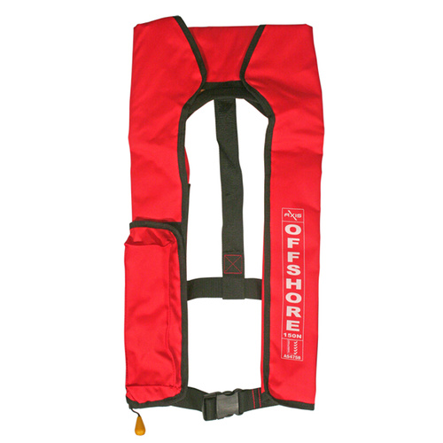 Axis Inflatable Manual Lifejacket - RED - 150N PFD1 Offshore Life Jacket 600125