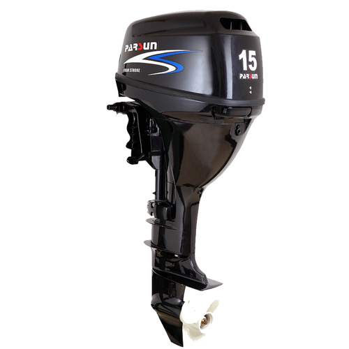 15HP PARSUN OUTBOARD MOTOR Forward Steer, Electric Start, Short Shaft, 4-Stroke, WATER COOLED 2YR WARRANTY F15FWS