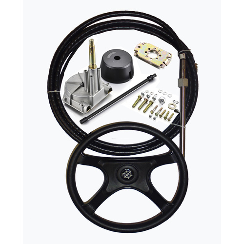 BOAT STEERING KIT ✱ 19FT / 5.79m ✱ Cable Helm Wheel Multiflex Teleflex Compatible