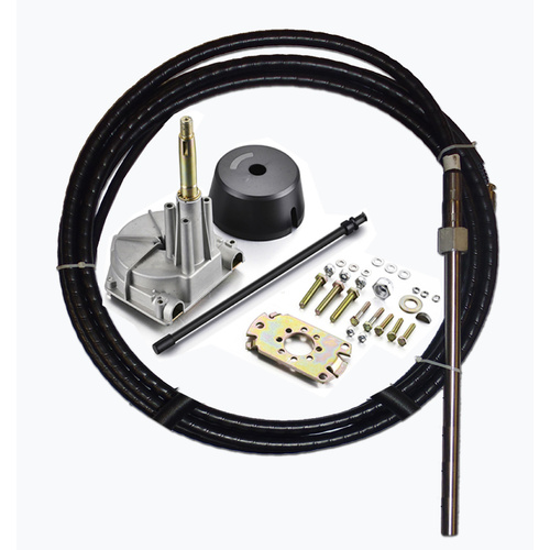 BOAT STEERING KIT ✱ 8FT / 2.4m ✱ Cable Helm Bezel Multiflex Teleflex Compatible